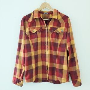 Columbia Camping Plaid Button Down Shirt Jacket